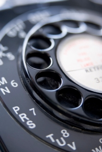 Close Up Of Old-Fashioned Telephone